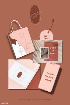 premium vector of Pink feminine branding design vector 937129 - Pink feminine branding design vector Graphic Design Branding, Identity Design, Packaging Design Inspiration, Graphic Design Inspiration, Ideas Para Logos, Grafik Design, Fashion Branding, Business Card Design, Ideias Fashion