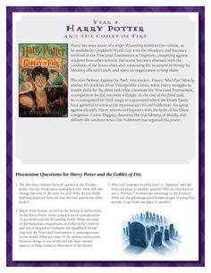Discussion Guide for Harry Potter and the Goblet of Fire by J.K. Rowling.    Download by clicking image above!    For more information visit www.scholastic.com/hpread #HarryPotter #HPread