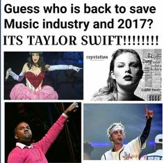 So true!! Please save us from this horrible music Taylor!! #reputation!!'