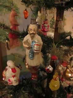 A Cleveland Antique Christmas Collection by Whopperjaw, via Flickr....Russian rabbi New Year's decoration from Darla & Jerry Arnold.