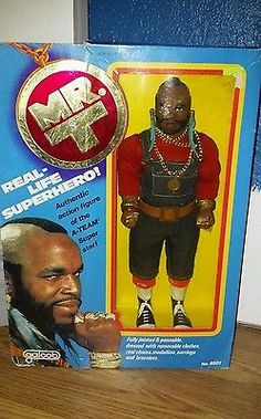 """VINTAGE MR. T 12"""" ACTION FIGURE DOLL A-TEAM 1983 NICE NEW old stock Galoob"""
