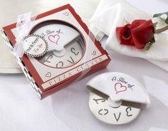 A Slice of Love Stainless-Steel Pizza Cutter in Miniature Pizza Box-No matter how you slice it, there's simply no topping Kate Aspen when it comes to creative wedding favors! Place A Slice of Love Pizza Cutter next to each table setting, Italian Wedding Favors, Creative Wedding Favors, Beach Wedding Favors, Unique Wedding Favors, Bridal Shower Favors, Unique Weddings, Wedding Ideas, Wedding Stuff, Wedding Gifts