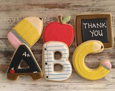 Items similar to Apple Cookies Back To School Cookies Decorated Cookies Teacher Appreciation Cookies One Dozen on Etsy