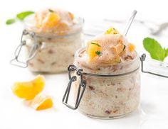 Milchrei Rezeptgalerie Mandarin Salad, Potato Salad, Cravings, Chocolate, Ethnic Recipes, Desserts, Food, Mandarin Oranges, Mint