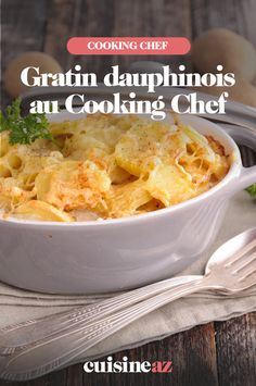 Le gratin dauphinois est une recette d'accompagnement facile à cuisiner au Cooking Chef. #recette #cuisine #gratin #pommedeterre #accompagnement #robotculinaire #CookingChef Cooking Chef, 20 Min, Macaroni And Cheese, Robot, Meat, Chicken, Ethnic Recipes, Black, Grated Cheese