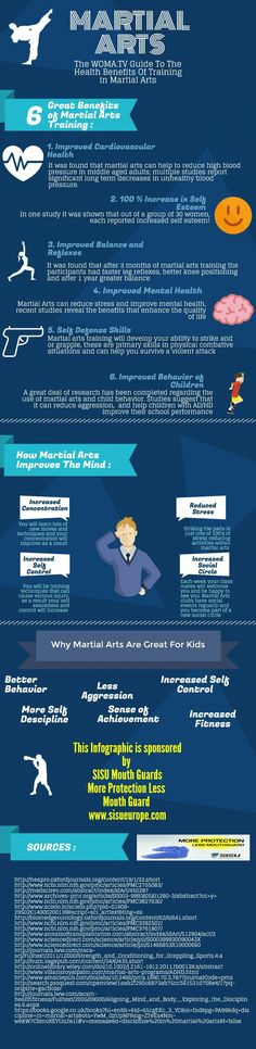The Health Benefits of Training Martial Arts: Infographic - World of Martial Arts TV Master Self-Defense to Protect Yourself #selfdefenseinfographic