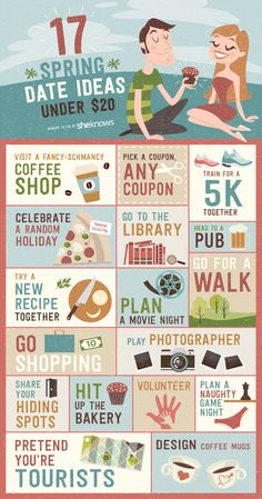Dating can be expensive, especially if you live in a large city surrounded by great restaurants and expensive ticketed activities.   If you want to save some money or just break out of a dating rut, there are lots of free or cheap activities no matter where you live. Here are 16 fun cheap date ideas to do with your partner.