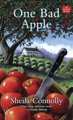 'One Bad Apple' (2008) by Sheila Connolly. (Orchard Series #1) Meg Corey has come to the quaint New England town of Granford, Massachusetts, to sell her mother's old colonial home & apple orchard. Instead, she becomes embroiled in development plans that include her land-and her former flame from Boston, who is found dead in the new septic tank on her property. Meg & her only ally, Seth Chapin, the local plumber, will have to peel back the layers of secrecy to find the murderer! Recipes…