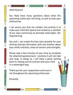 Starting the new year can  be very challenging if you do not have all the necessary information about your students and start off on the wrong foot with their parents. Utilize this handy back to school letter and questionnaire to learn about your new classroom students while simultaneously setting the groundwork for a desirable parent-teacher relationship.