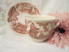 Sailors Farwell Tea Cup Made By Alfred Meakin by MemaAntiques on Etsy