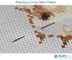 Resizing a cross stitch pattern......This is a guide about resizing a cross stitch pattern. On occasion the perfect cross stitch pattern may need one adjustment, a resize for your current project.