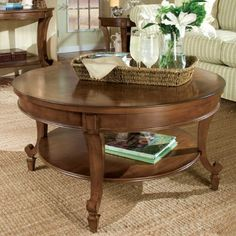 Magnussen Home Aidan Aidan Round Cocktail Table with Shelf