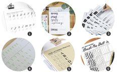 Imprimibles: 12 (nuevas) plantillas para practicar lettering