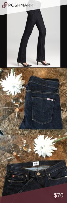 "Hudson ""Elle"" Baby Boot Jeans These gorgeous baby boot jeans sport a long, slim leg for that extra polished look. 360 stretch that compliments your body but won't stretch out and lose shape. They're in excellent condition and ship fast! Color is Foley. Hudson Jeans Jeans Boot Cut"