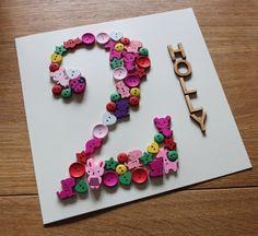 Handmade personalised child birthday card  by ByTheBlueFairy