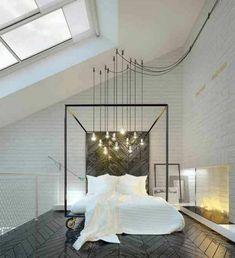 une chambre parentale blanche et noir qui orchestre sa. Black Bedroom Furniture Sets. Home Design Ideas