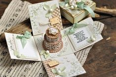 Exploding box by Ewa, the Easter Greetings and Pion Design Palette paper collection