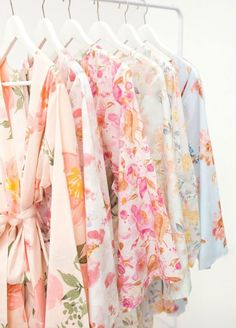 Giving your bridesmaids a beautiful robe is one of our favorite gifts. Have all of your bridesmaids wear their robes as they get ready together for the wedding and be prepared to take some of your favorite photos of the day. Bridesmaid Gifts, Gift Ideas For Her