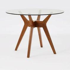 Jensen Round Glass Dining Table #westelm