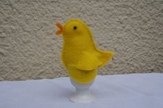 Yellow felt baby chick egg cosy by LizziesLocker on Etsy, £3.25