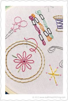 embroidering embroidery - love it! - sublime stitching, $5