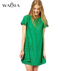 >> Click to Buy << Vestidos Femininos Woman Casual Dress 2017 Summer Short Sleeve O-Neck Plus Size S-4XL Lace Dresses Vestido De Renda 5 Colors #Affiliate