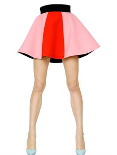 Love this: FAUSTO PUGLISI Pink High Waisted Two Tone Viscose Cady Skirt @Lyst
