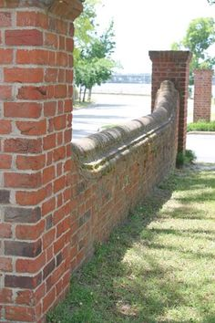 Tryon Palace in New Bern, NC.  Custom blend handmade brick with Type 3 Wall Copings.