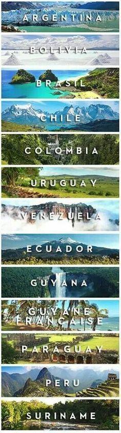 South America bucket list - a v e n i d a a z u l - a 3 x a - c o m