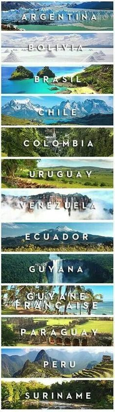 South America bucket list - a v e n i d a a z u l - a 3 x a - c o m