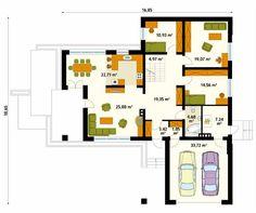 Projekt domu Aksamit 2 - rzut parteru