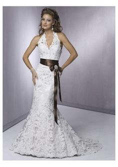 Lace Wedding Dresses | Lace halter wedding dresses gives lace with high quality material for ...