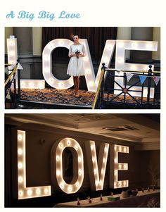 Vowed & Amazed   Theatrical Props   Illuminated props   Giant LOVE letters wedding hire
