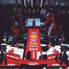 Sebastian Vettel climbs in his SF16-H in the Ferrari garage, last week at the @bah_int_circuit. #SebastianVettel #Vettel #SebVettel #SV5 #Seb5 #ForzaSeb #Ferrari #ScuderiaFerrari #ForzaFerrari #RedSeason #F12016 #F1 #Formula1 #prancinghorse #SF16H