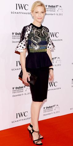 Cate Blanchett looks beautiful in this sequins by Peter Pilotto.