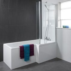Square shower bath