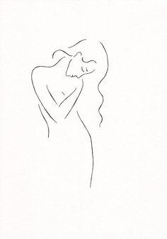 Black and white girl sketch. Minimalist nude line art. Black and white girl sketch. Minimalist line art. Black and white girl sketch. Minimalist line art. Black And White Girl, Black And White Sketches, Black And White Art Drawing, Black And White Doodle, Art Minimaliste, Minimal Art, Minimalist Drawing, Minimalist Painting, Illustration Blume