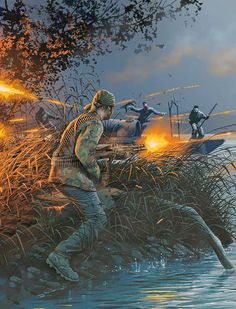 US Special Forces in Vietnam Military Art, Military History, Cute Date Ideas, Military Drawings, Us Navy Seals, My War, Modern Warfare, Cthulhu, Special Forces