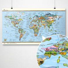 Travelmap wiederbeschreibbar