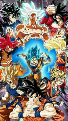 All Son Goku's form ranging from Dragon Ball, Dragon Ball Z, Dragon Ball GT & Dragon Ball Super. Dragon Ball Gt, Dragonball Evolution, Goku Evolution, Tous Les Anime, Super Anime, Anime Crossover, Son Goku, Animes Wallpapers, Anime Art