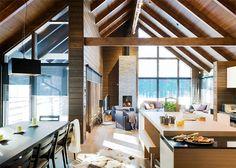 Foyer à la verticale entre fenêtres  Home Design Photo Gallery - Honka Fusion™