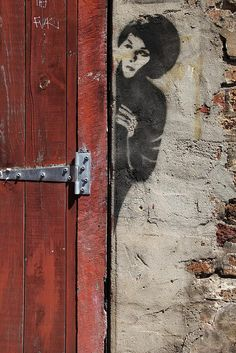 Banksy street art Skull House, Street Art door Great graffiti Graffiti in Australia Murals Street Art, 3d Street Art, Street Art Banksy, Banksy Art, Graffiti Artwork, Amazing Street Art, Street Artists, Amazing Art, Bansky