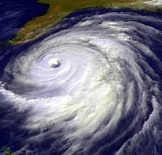 Hurricane A violent, tropical, cyclonic storm.