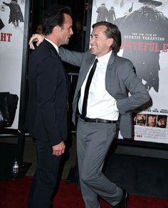 Tim Roth & Walton Goggins at the Hateful eight premier