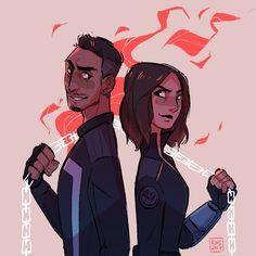 Robbie Reyes / Ghost Rider and Daisy Johnson / Quake #Quakerider #Marvel Agents of S.H.I.E.L.D. #AoS #AgentsofSHIELD #fanart