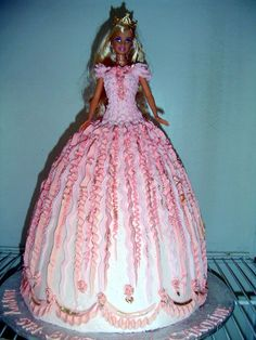 Barbie Cake, Crazy Cakes, Cake Designs, Red And Pink, Birthday Cakes, Ribbon, Google, Image, Art