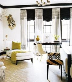 Love the #black and #white and #green. Can do without the Zebra head