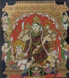 Yashoda Krishna, Mysore Painting, Painted Chairs, Traditional Paintings, Karnataka, Ganesha, Fictional Characters, God, Painted High Chairs