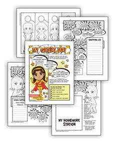 """Can be done in one meeting  Perfectfor mixed level Daisy and Brownie troops  Suitable for independent Girl Scouts  Download link will be in your order confirmation email.  Complete this five-page comic download and Brownies have earned their My Great Day badge and Daisies have earned the yellow """"Friendly & Helpful"""" petal.…"""