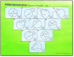 Segment Lengths in Circles (Chords, Secants, and Tangents ...
